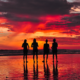 ladies-standing-at-beach-during-sunset-costa-rica-photo-by-michael fernandez