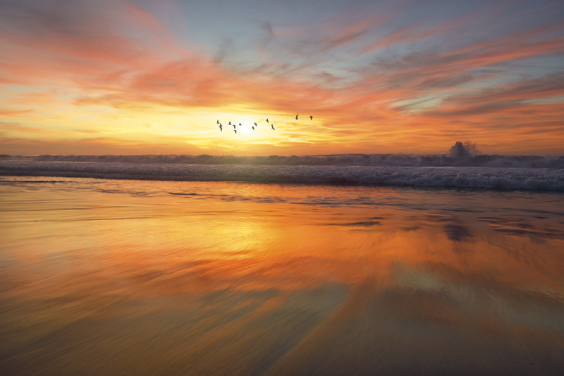 sunset at the beach costa rica