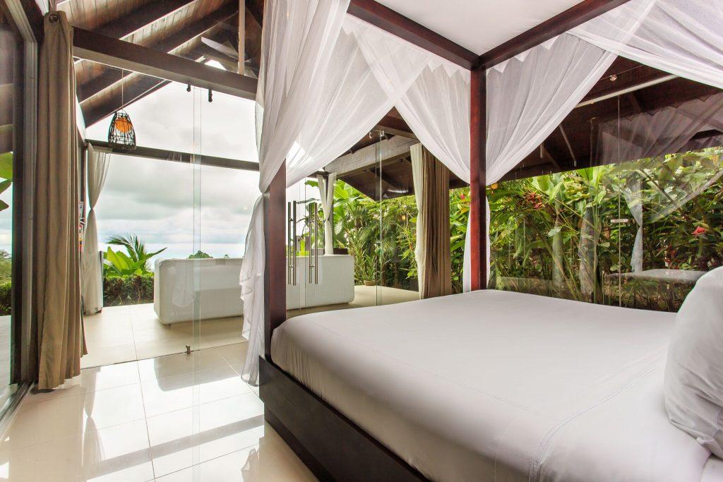 Oxygen Jungle Villas Uvita Costa Rica overhead cabina beds oceanview | Costa Pacifica LIVING