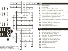 crossword puzzle for tico