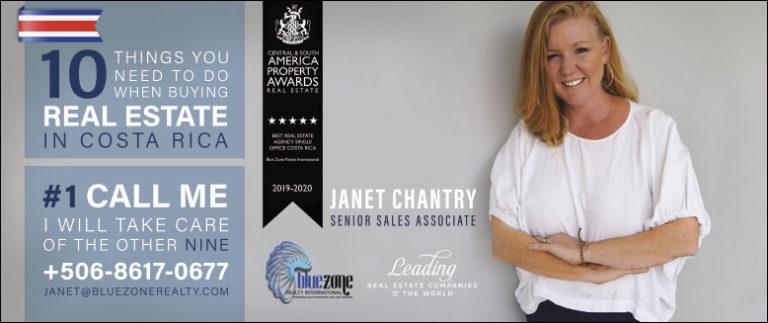 Janet Chantry Blue Zone International Real Estate Costa Rica