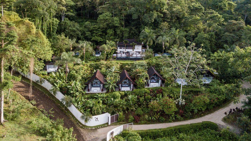 Oxygen Jungle Villas Uvita Costa Rica overhead resort view | Costa Pacifica LIVING