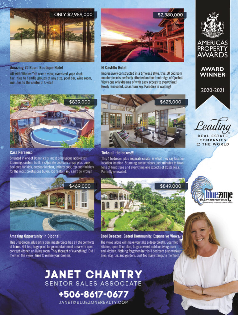 Janet Chantry Real Estate Costa Rica Ojochal Uvita Dominical - Costa Pacifica LIVING lifestyle magazine