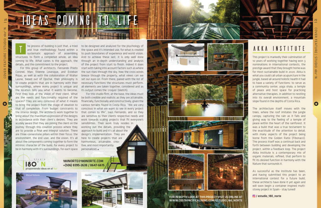 Ideas coming to life - Edition 16 Cover Feature - Costa Pacifica LIVING