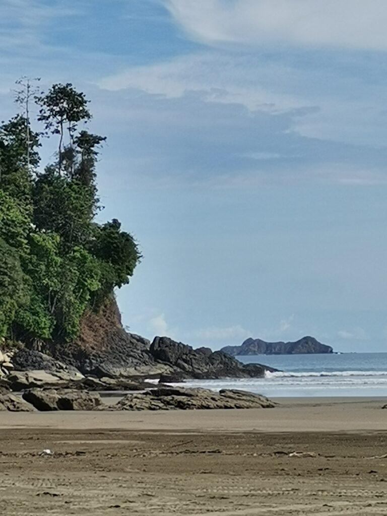 Parque Nacional Marina Ballena, view from South end of Playa Uvita - Photo by Nikki Whelan