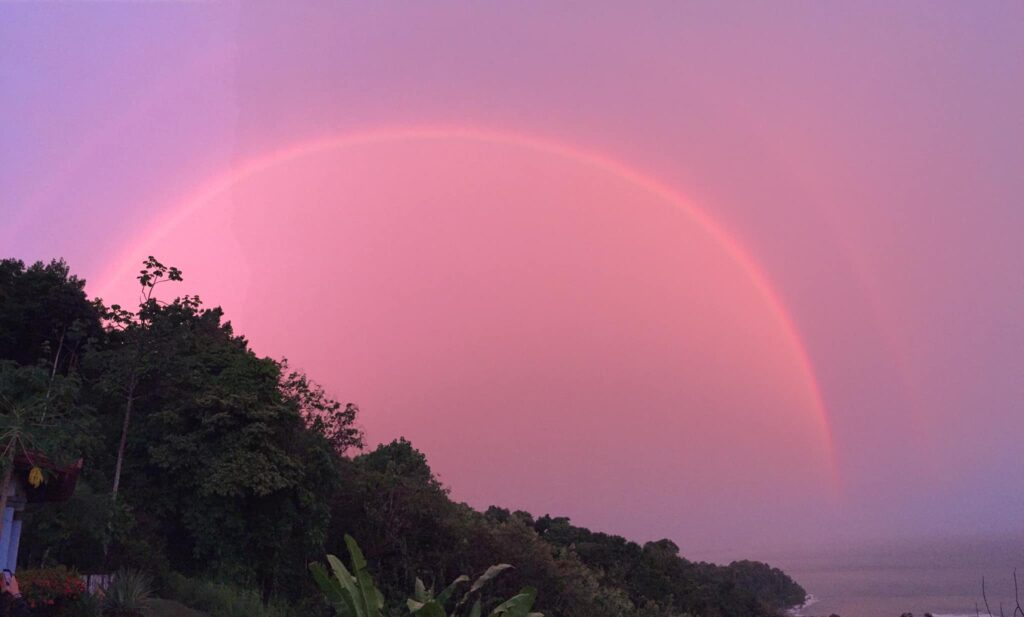 Rainbow dome in Costa Ballena - Photo by Kelly Patton Sylvester