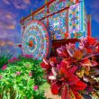 Costa Rican ox cart with decorative artistry - Photo by Joaquin Murillo